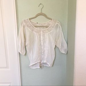 Cream Textured Shirt